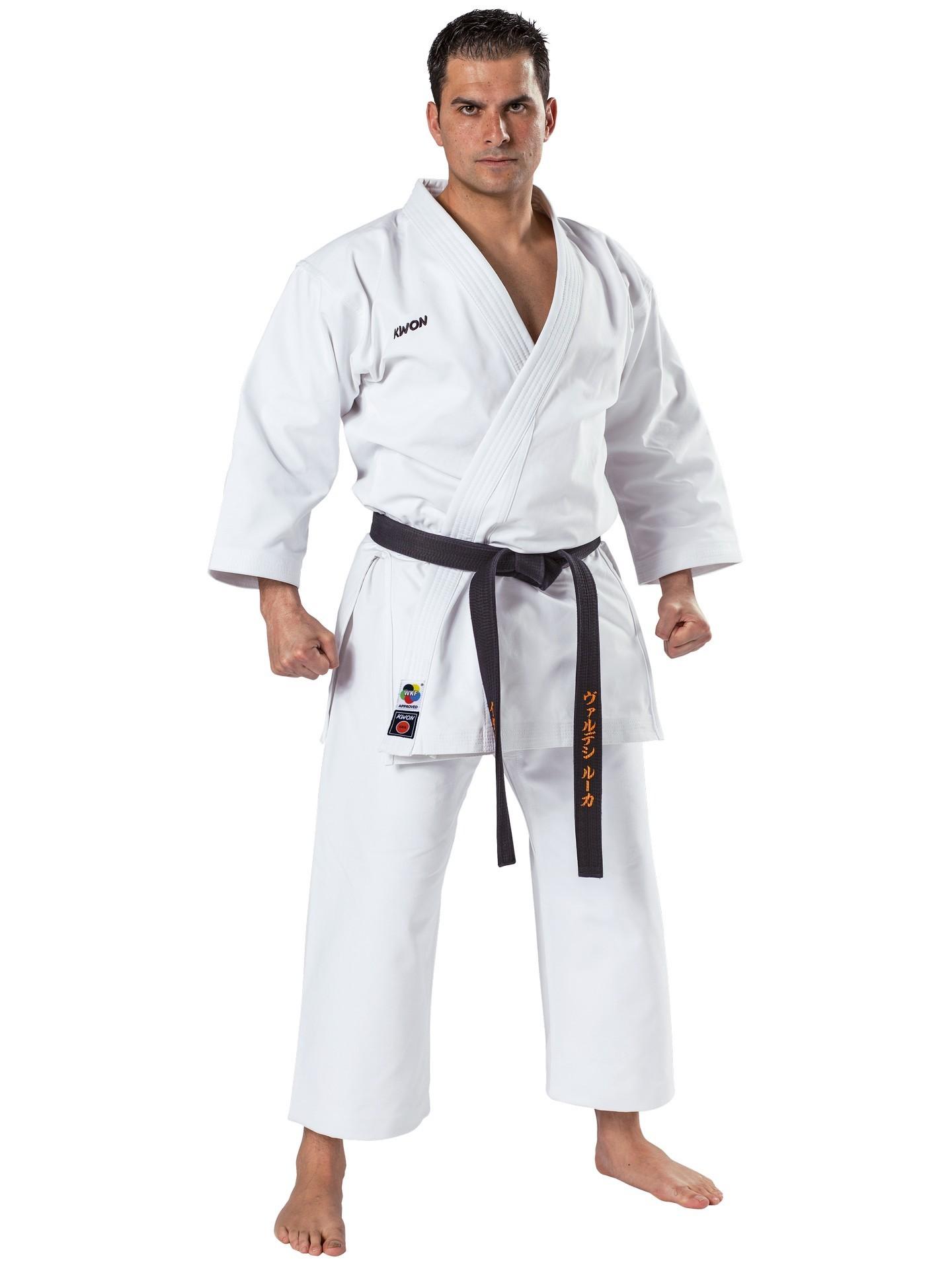 Karate kimono kata KWON 12oz. su kyokushin ženklu 180cm