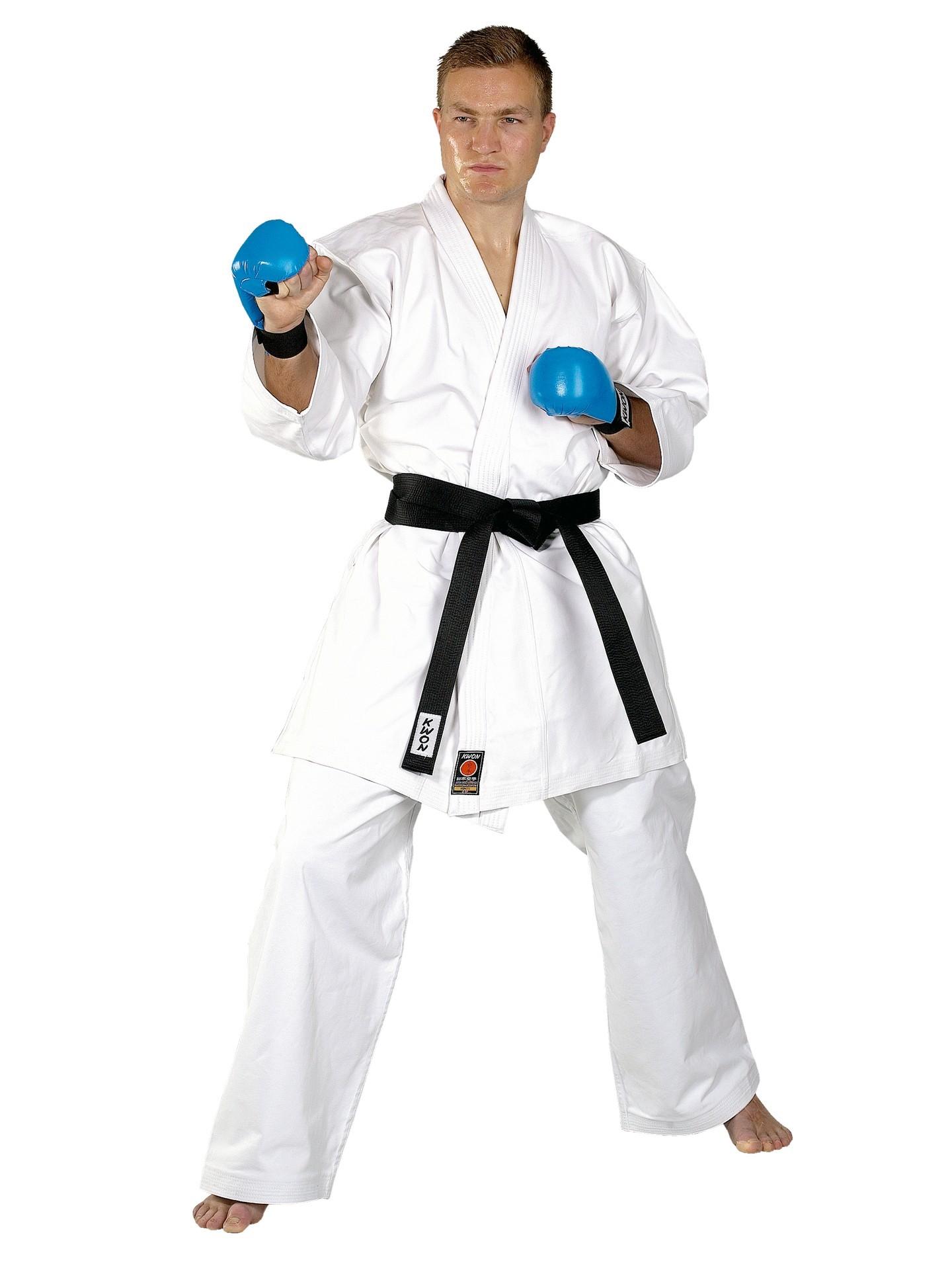 Karate kimono KWON kumite 12oz. su shinkyokushin ženklu