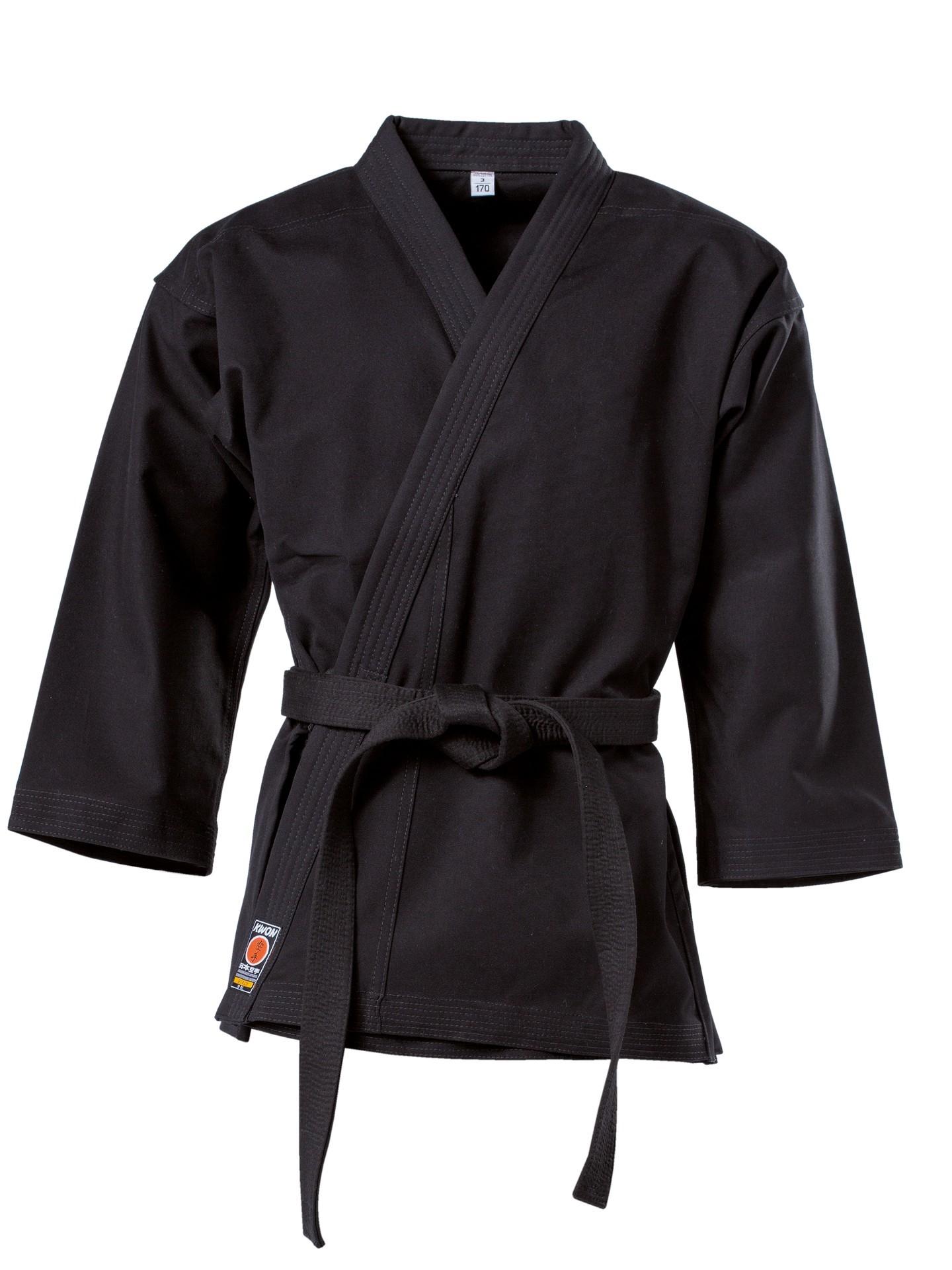 Karate kimono švarkas KWON Traditional 12oz, juodas