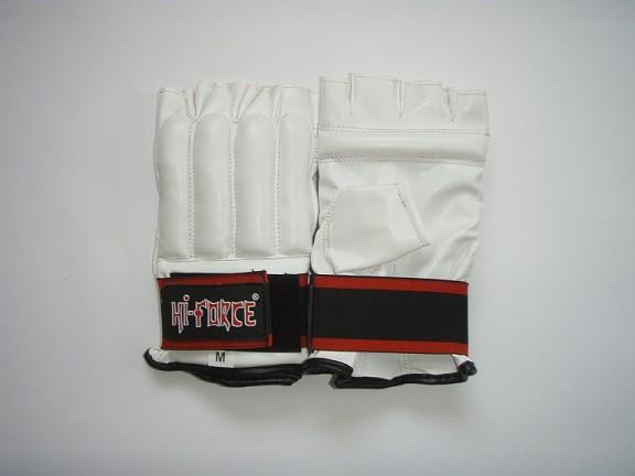 Treniruočių pirštinės Hi-Force persiūtais pirštais sintetinės odos