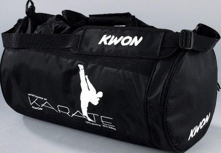 Sportinis krepšys KWON 51x25x25cm (užrašai: Judo, Ju Jutsu, Karate, Kick-Thaiboxing, Taekwondo, Kung Fu)