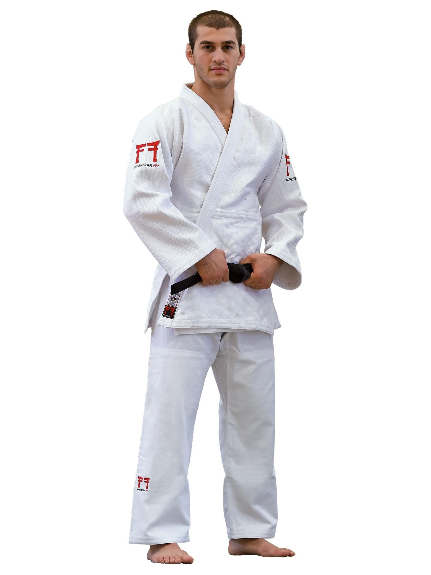 Dziudo kimono FF Superstar IJF, 750 g/m2