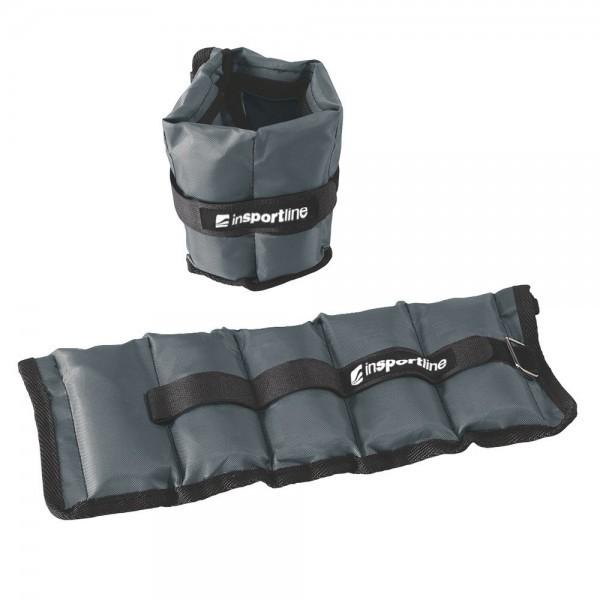 Svoriai ant riešų ir kojų reguliuojami Insportline GrayWeight 2x1kg