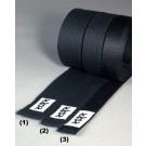 Diržas KWON su dirbtiniu šilku juodas 4 cm (3)