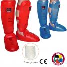 Karate kojų apsaugos su pėda Wacoku, patvirtinta WKF