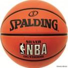 Krepšinio kamuolys SPALDING NBA Silver Outdoor